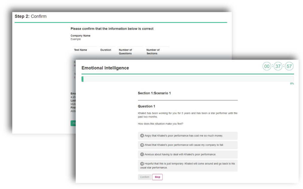 Emotional Intelligence test screenshot